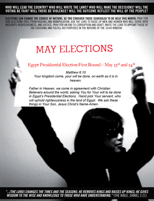 Global Day of Prayer: Pray for the Elections in Egypt