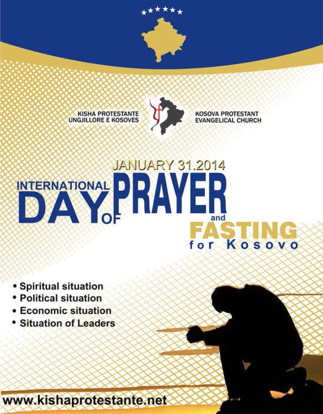 Join the International Day of Prayer for Kosovo on January 31